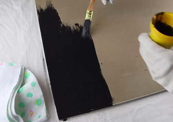 Изготовление грифельной доски в домашних условиях