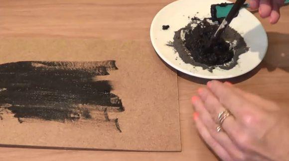 Приготовление краски для грифельной доски