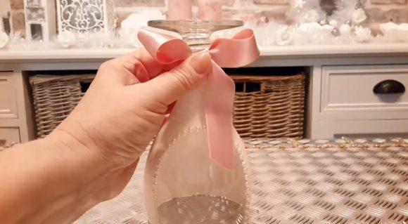 Декорирование бокала для праздника