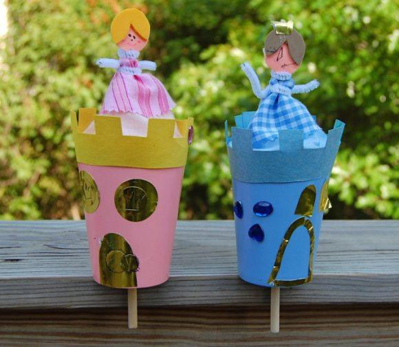 Замок для принцессы из бумажного стаканчика
