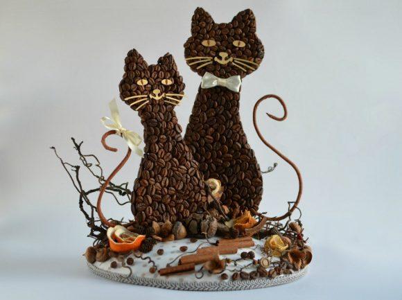 Котики из кофе