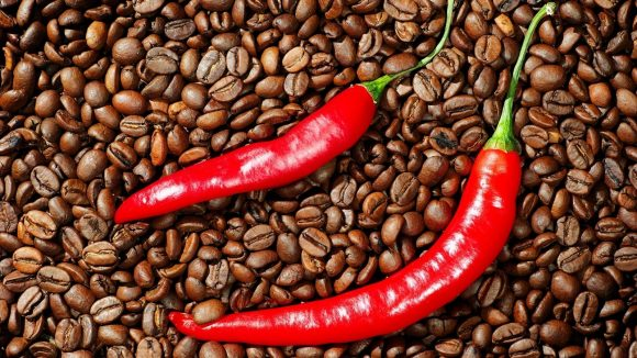 Кофе и жгучий перец