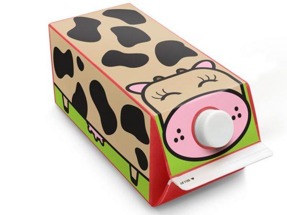 копилка из коробок от молока