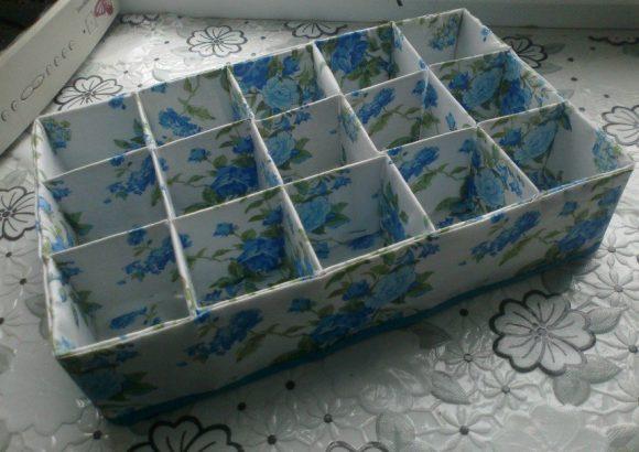 органайзер из коробок от молока