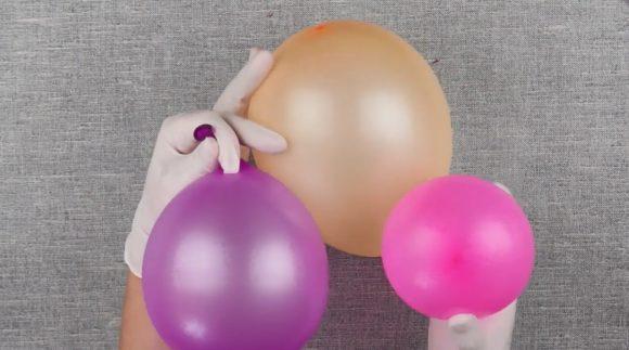 Разноцветные надувные шарики