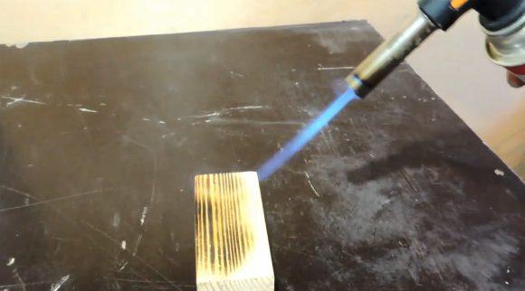 Обжигание заготовки горелкой
