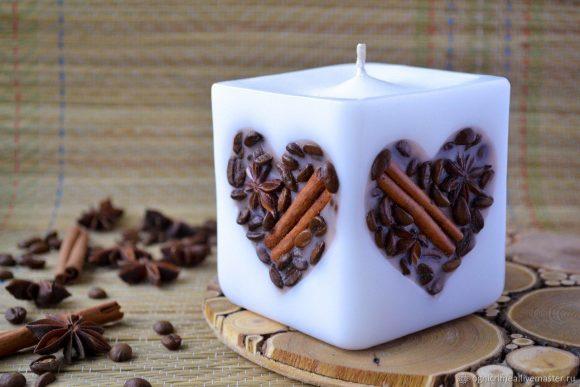 Свеча из кофе