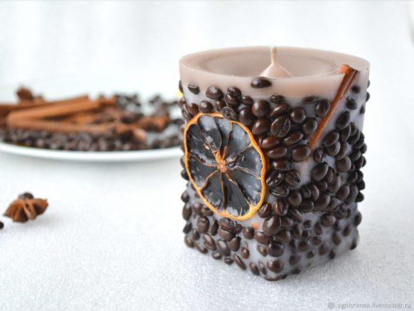Самодельная свеча из кофе