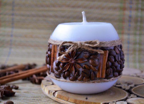 Свечка из кофе
