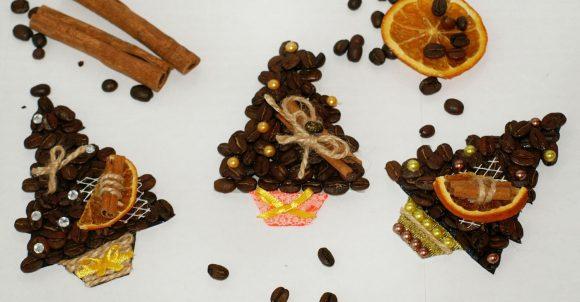 Магнитики из кофе