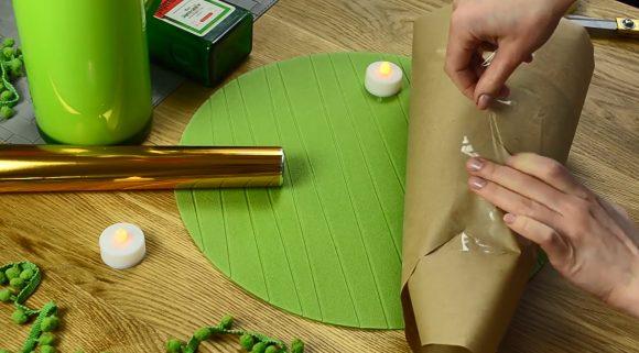 изготовление выкройки абажура
