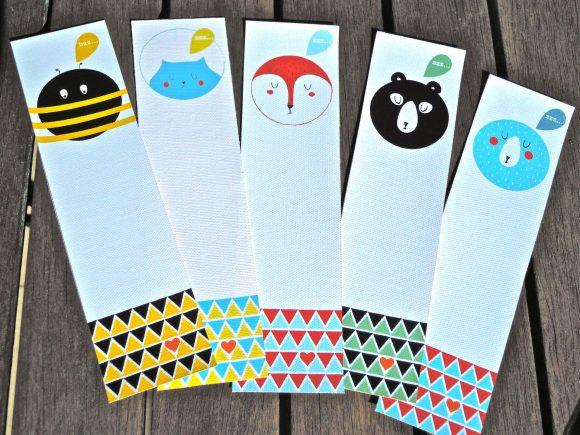 Книжные закладки из бумаги с рисунками
