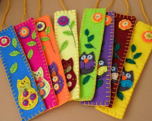 Книжные закладки из фетра с животными