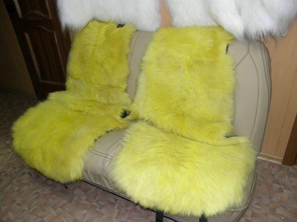 Меховые накидки для дивана