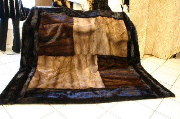 Одеяло из меховой шубы