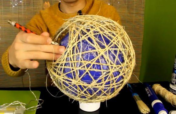 Сдувание мяча внутри конструкции