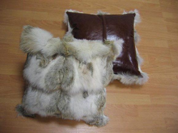 Подушки из старой дубленки