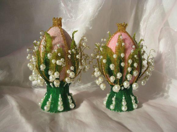 Пасхальные яйца своими руками из бисера