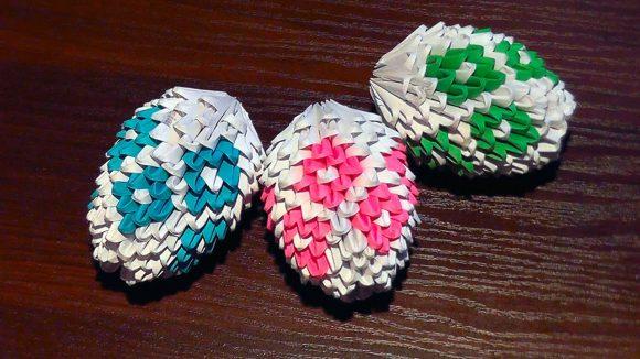 Пасхальные яйца своими руками в технике оригами