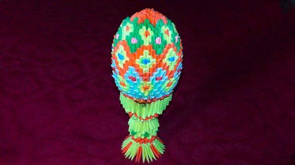 Пасхальное яйцо своими руками в технике оригами