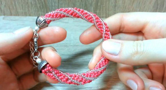 Плетение африканской спирали