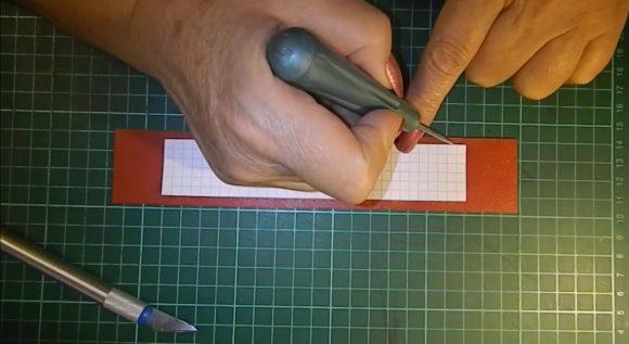 Разметка шилом на браслете