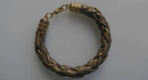 Плетёный браслет из кожи своими руками