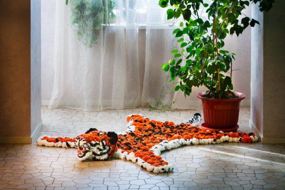 Коврик своими руками в виде шкуры тигра