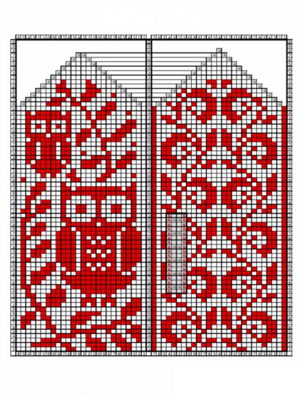 Жаккардовый орнамент «Сова»