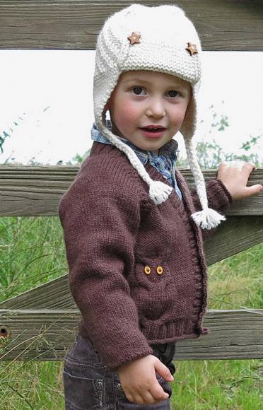 Детский кардиган с совами