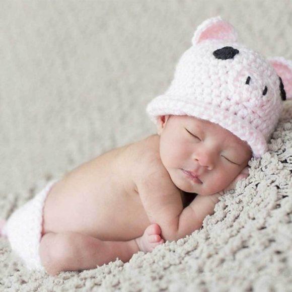 Шапочка на младенце