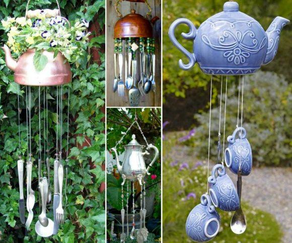 Поделки из чайников для дачи