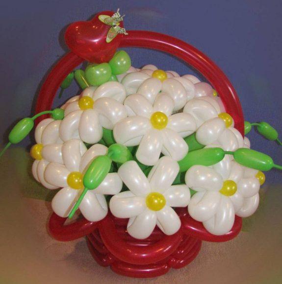 Букет из воздушных шаров на последний звонок для учителя
