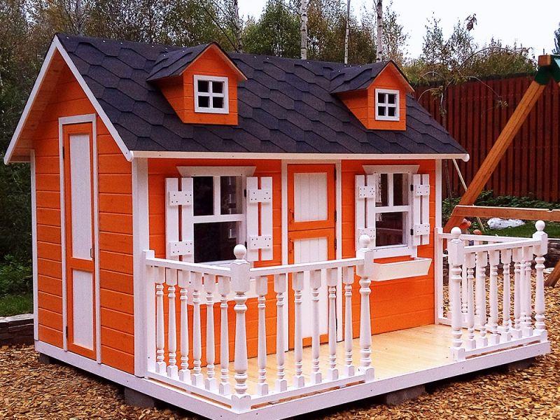 Детский домик для дачи своими руками: подборка идей
