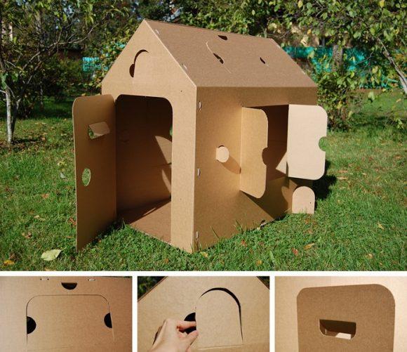 Картонный детский домик