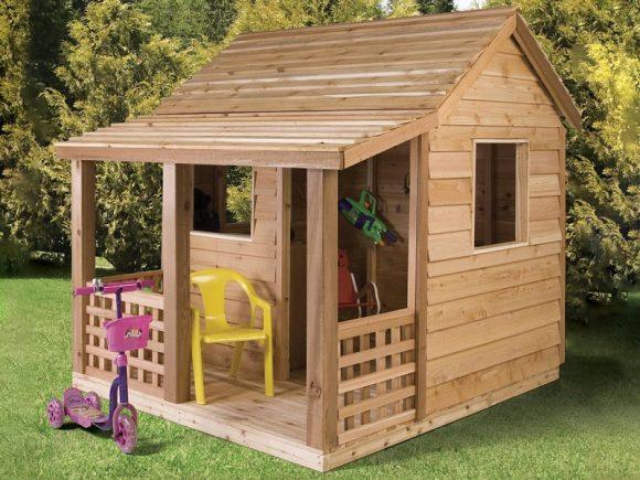 Деревянный домик для ребёнка