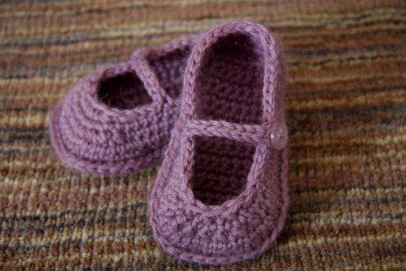 Детские тапочки-сандалии, крючок