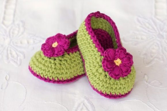 Тапочки для девочки с цветами