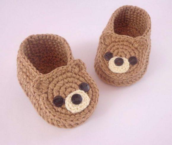 Детские тапочки-мишки