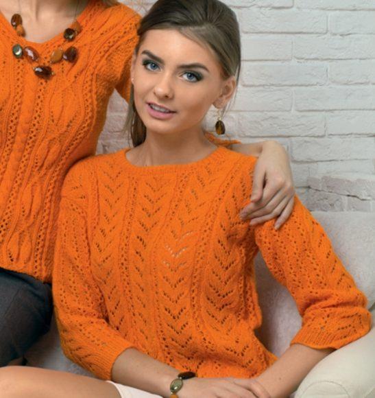 Ажурные дорожки на свитере