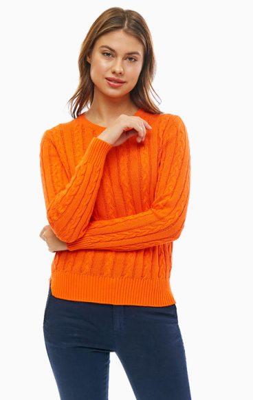 Простой свитер с косами