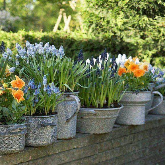 Цветочная композиция в саду