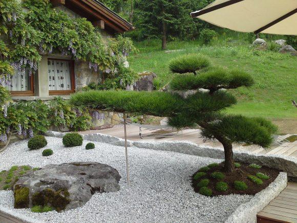 Вариант оформления рокария в японском стиле