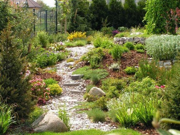 Природный дизайн садового участка