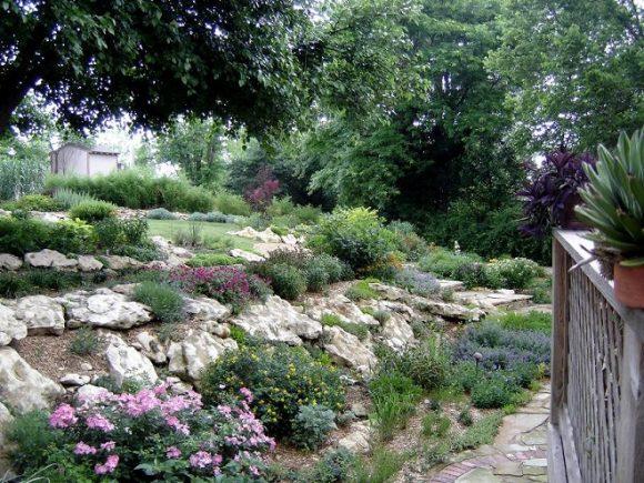Альпинарий в саду экостиля