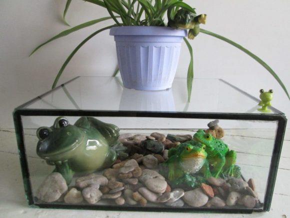 Декоративная витрина из старого аквариума