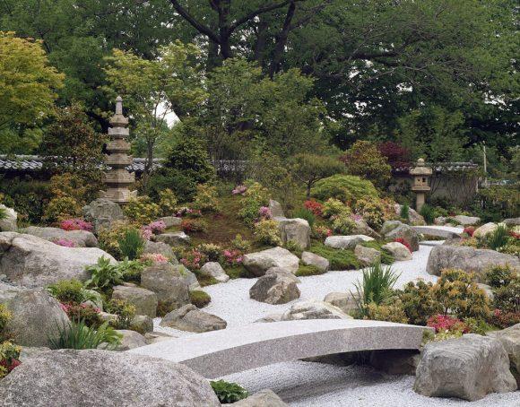 Сад камней в японском стиле