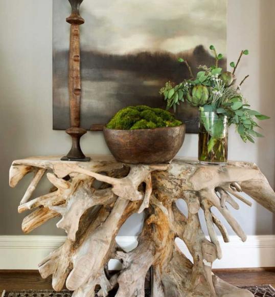 Столик из коряги для дачи