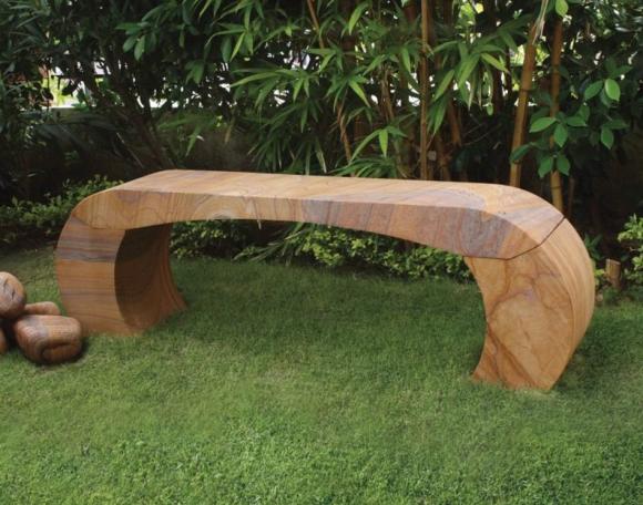Каменная скамейка авторского дизайна