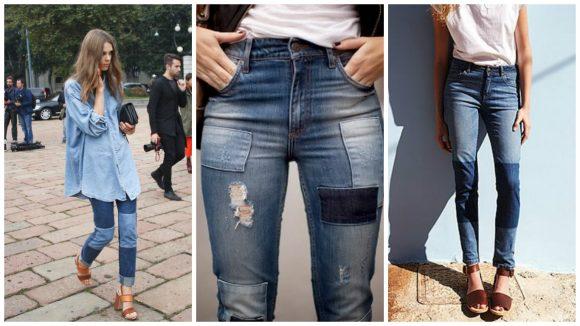 Разные варианты сделать заплатку на джинсах